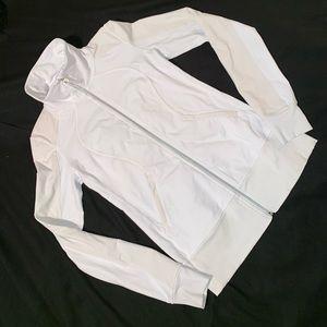 LuLuLemon White Zipper Jacket